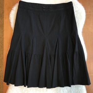 Anthro Black Midi Skirt by Odille Size 6